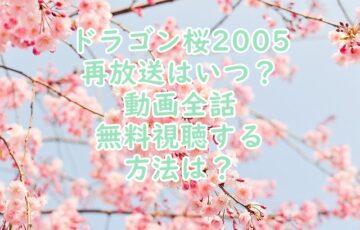 ドラゴン桜地上波再放送大阪