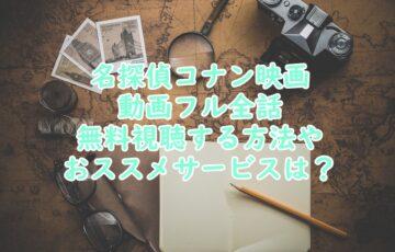 名探偵コナン映画動画フル全話無料視聴する方法