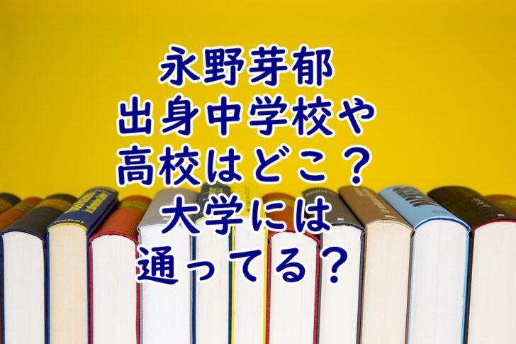 永野芽郁出身中学校や高校はどこ?大学に進学したのかも調査!