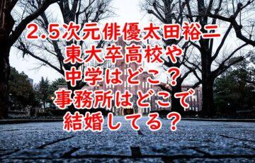 太田裕二東大卒高校や中学はどこ?事務所や結婚しているのかまとめ